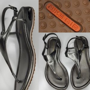 7 COLE HAAN NIKE AIR Pewter gray Thong Sandals 7